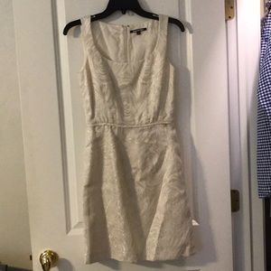 Ivory and Silver Gianna Bini Cocktail Dress